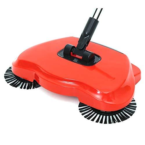 JY YJ-foryou 360-Grad-Handdrehkehr mop Multifunktions- mechanische Kehrmaschine Hand Push Reinigungsbesen Staubabscheider (Color : Light Grey)