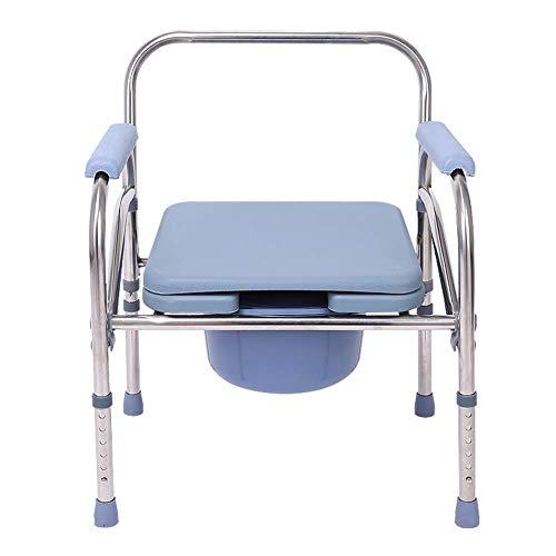 GSS-rolstoelen Heavy Duty Drop Arm Bedside Commode stoel, Homecare toiletbril met veiligheidsstalen frame, extra breed 3 in 1 toiletstoel verstelbare hoogte ondersteuning gereedschap