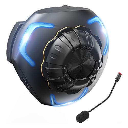 Motorcycle Helmet Bluetooth Headset Bone Conduction Motorcycle Headset for Helmet, Super Bass IP68Waterproof Bluetooth Helmet Speakers 10hrs Play Time Ski Helmet Speakers with Separate Microphone