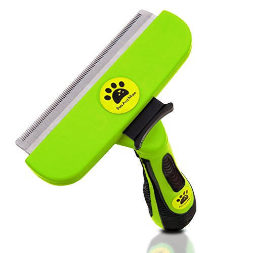 PETS AND MORE Grooming Deshedding Tool for Large Dog Fur Release Button, Stainless Steel