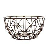 Kitchen Simple Fruit Basket - Iron Wire Living Room Fruit Bowl Snack Plate Cesta de Almacenamiento Multifuncional, marrón (Tamaño: 30 13.5cm)