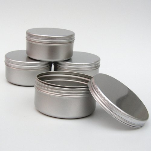 10 x Pot Bougie Aluminium 100ml Maquillage Large 100ml Capacité Vide Grand Produits de Beauté/Bougie/Epice Pots/Produit Cheveux/Boite Pot