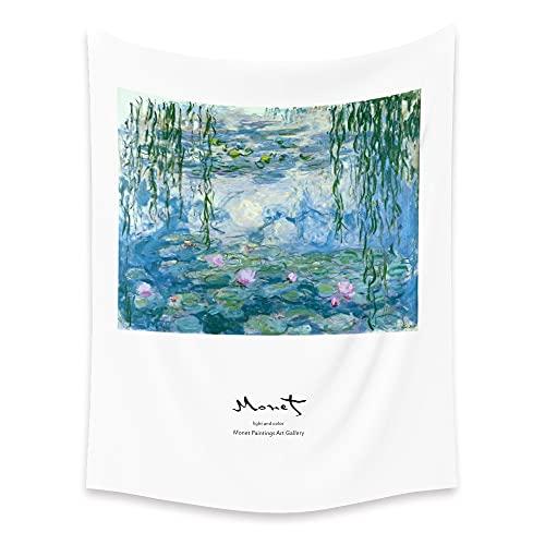 KHKJ Hermoso Paisaje Tapiz de Pared Colgante decoración del hogar Estilo INS tapices de Flores de Primavera para la decoración de la habitación Drom A6 230x180cm