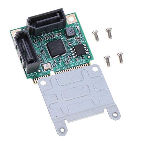 Mini PCI Express SATA 3.0 増設ボード 2ポート ミニPCIE to SATA拡張カード 6Gbps 取付部品付き