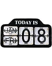 【USA METAL CALENDAR】アメリカ カレンダー 壁 おしゃれ 日めくり カフェ ガレージ インダストリアル ビンテージ バイカー インテリア 看板 ;AVCA