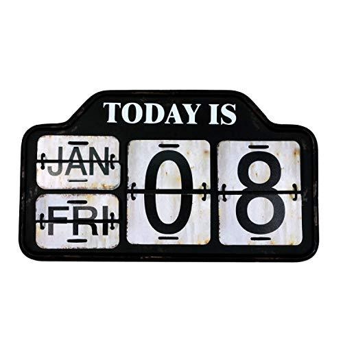 【USA アメリカン デザイン】カレンダー USA 日めくり カフェ ガレージ インダストリアル ビンテージ バイカー インテリア 看板 BK ;AVCA-004