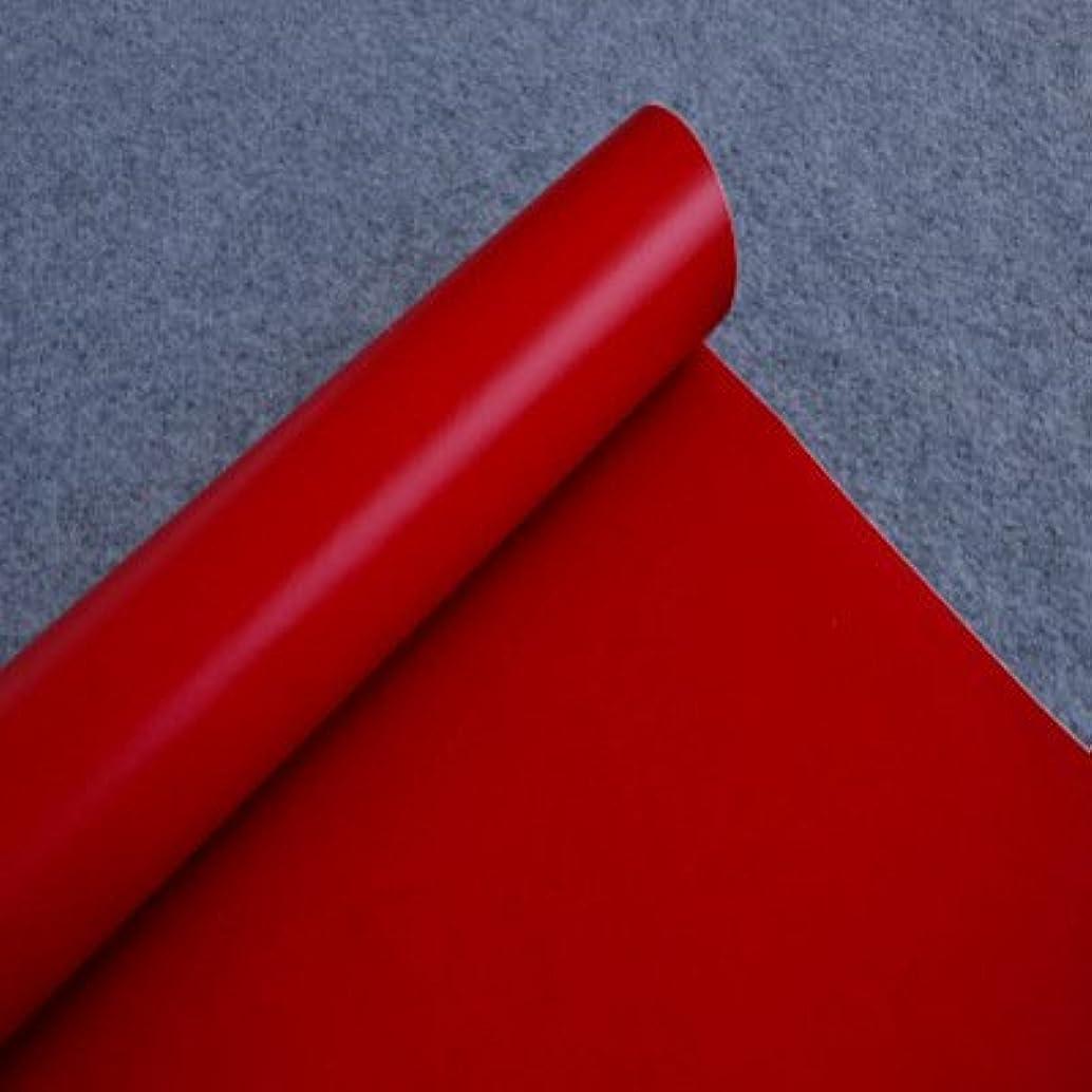 パールマラソン愚か【ノーブランド品】 簡単 模様替え 防水 単色 壁紙シール 45cm幅 × 10m (レッド)