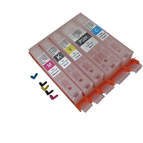 YZQ キャノン (CANON) 5色 BCI-370 BCI-371 互換 詰め替えカートリッジ(インクなし) 永遠 自動リセットチップ 付き, キャノンCanon PIXUS MG5730 TS6030 TS5030 に適用する