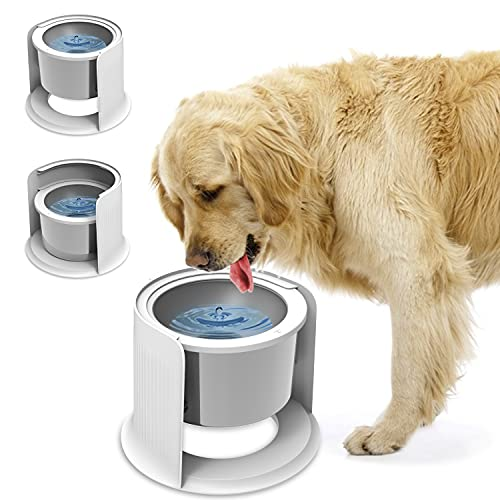 LIDLOK Dog Water Bowl Elevated Dog Bowls Slow Water Feeder Dog Bowl with Floating Disk No-Spill Water Bowl for Dogs (4.4 L Water Bowl