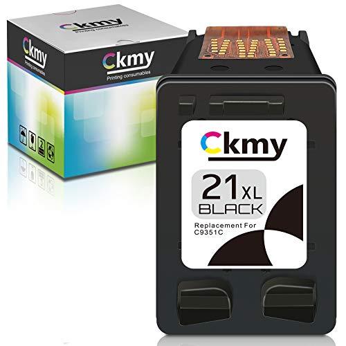 CKMY Cartucho de Tinta Remanufacturado para HP 21 XL 21XL para HP Deskjet 3940 D1530 D2360 D2460 F2180 F2224 F380 F4180 Officejet 4315 4355 5610 5615 PSC 1410 ( 1 Negro)