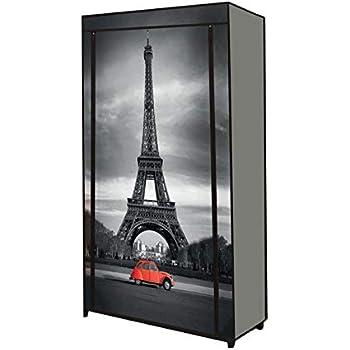 Idmarket Etagere Range Chaussures 50 Paires Housse Imprime Paris Amazon Fr Bricolage