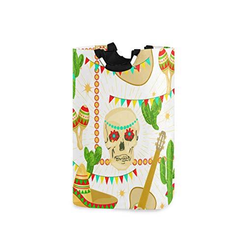 ZOMOY Multifunktionale Faltbarer Schmutzige Kleidung Wäschekorb,Cinco De Mayo 5. Mai Bundes,Household Wäschebox Spielzeug Organizer Aufbewahrungsbeutel mit Henkel
