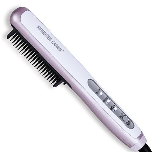 Kingdomcares Hair Straightener Brush Ptc Faster Heating Straightening Brush Styler At Home Purple Buy Online In India At Desertcart