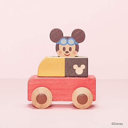 Disney KIDEA PUSH CAR ミッキーマウス ディズニー キディア つみき ブロック 木製玩具 知育玩具 子ども 男の子 女の子 くるま 車 プレゼント TYKD00601