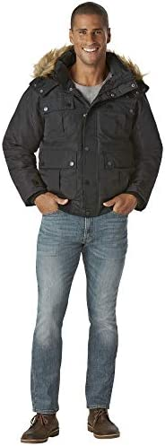 Rocawear Men s Big and Tall Bomber Parka Jacket Black 3X product image