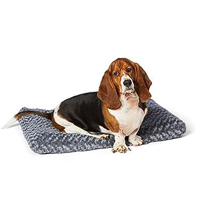 AmazonBasics Pet Dog Bed Pad, 35 x 23 x 3 Inch, Grey Swirl