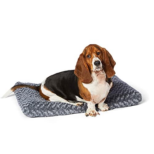 Amazon Basics Pet Dog Bed Pad, 35 x 23 x 3 Inch - Medium, Gray Swirl