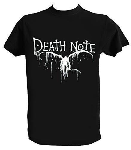 Generico T Shirt Death Note Shinigami Bianco Nero Uomo Bambino Maglietta Anime Manga Giapponesi, Bambino 12-14Anni