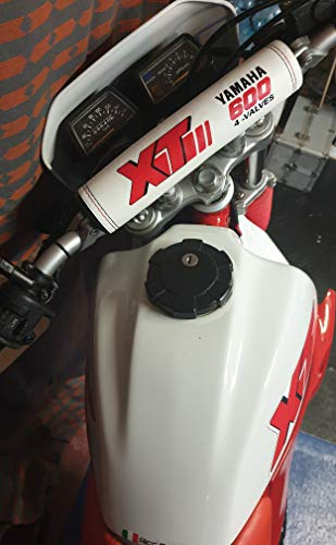 Paracolpi Manubrio Bumper Crossbar adatto per Yamaha XT 600 4 valves BIANCO