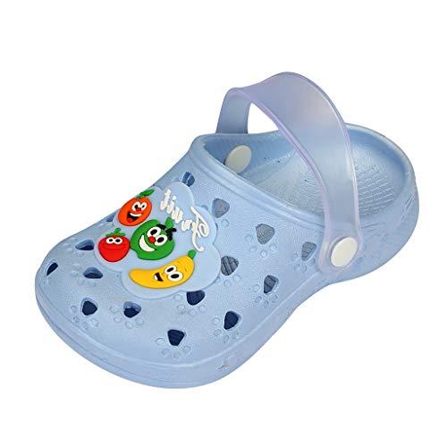 Cuteelf Gartenschuhe Kinder Unisex Clogs Kinder Badeschuhe Hohl Pantoletten rutschfeste Latschen mit Cartoon Frosch Hausschuh Jungen Mädchen Schuhe Badeschuh mit Rutschfester Sohle