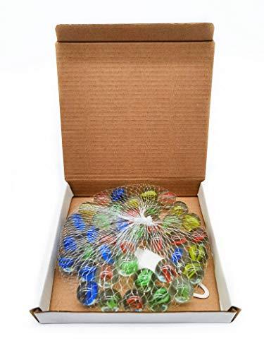 ARSUK Le marbre en Verre coloré œil de Chat est livré dans Un Sac pour Jouets Cadeau de fête pour Enfants Jouant au Trou de l'anneau sur Les Jeux muraux