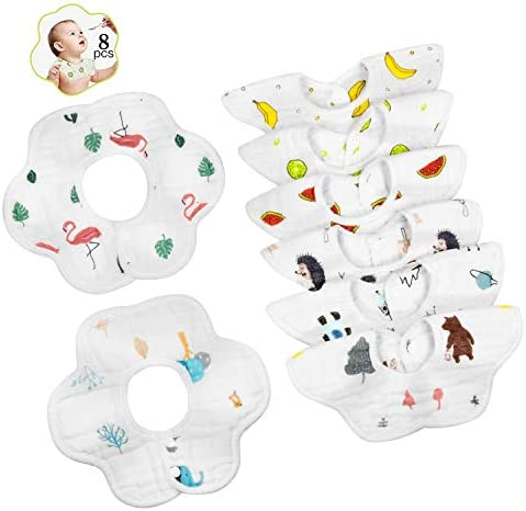 Baby Bibs 360 Rotate Soft Baby Bib Anti Stain and Odor Resistant Neck Baby Bibs Drool for Boys product image