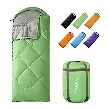 PARKOL Sleeping Bag for Adults & Kids - 4 Seasons Warm & Cold Weather - Waterproof Lightweight Portable Camping Gear Equipment for Outdoor,Hiking Backpacking