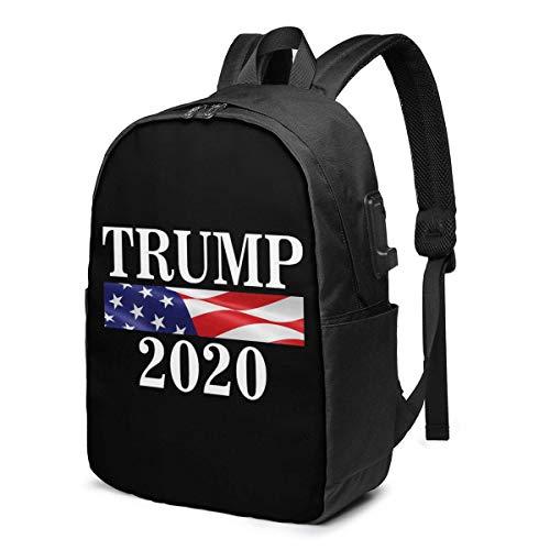 Lawenp Trump 2020 Hace Llorar de Nuevo a los liberales Mochila para portátil con Puerto de Carga USB, Bolsa de Negocios y Mochila | Se Adapta a la mayoría de portátiles y tabletas de 17 Pulgadas