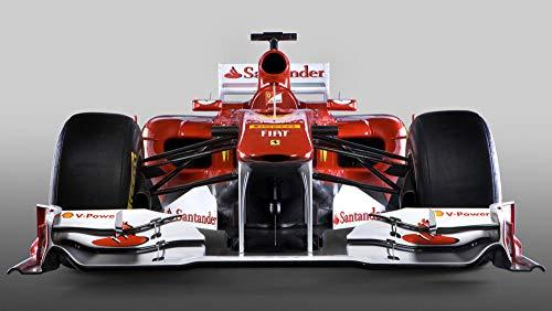 Coche De Fórmula 1 Ferrari F1 poster Diamante Pintura Kits, DIY 5D Punto de Cruz Diamante Principiante, Diamante Craft Decoración de la pared del Hogar regalo de cumpleaños40x60cm