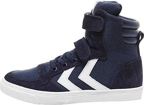 hummel Unisex Slimmer Stadil High Jr Hohe Sneaker, Dress Blue, 36 EU