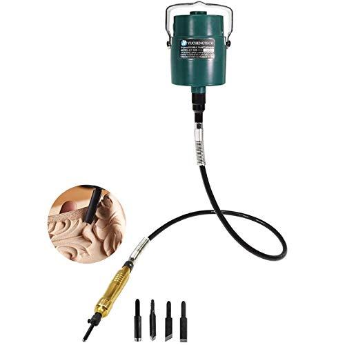 YUCHENGTECH cincel eléctrico para tallar madera, cincel para carpintería colgante, tallado de...