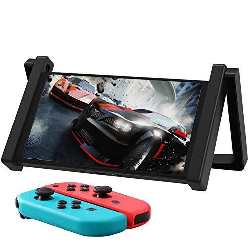 MoKo Soporte Cologante de Coche Compatible con Nintendo Switch, 2-en-1 Soporte de Automóvil, de Mesa de Tableta Ajustable Ligero y Duradero para Nintendo Switch - Negro