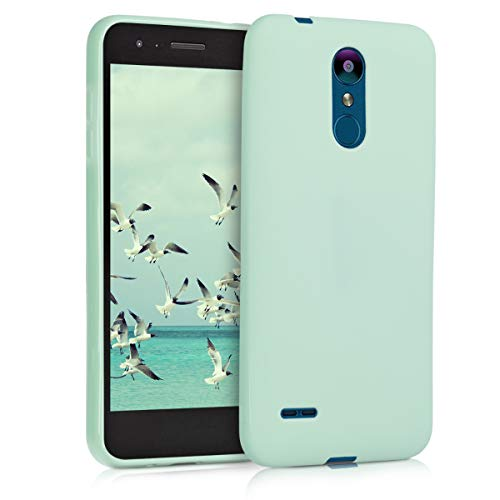 kwmobile TPU Case Compatible with LG K8 (2018) / K9 - Soft Thin Slim Smooth Flexible Protective Phone Cover - Mint Matte