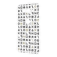 スマホケース ハードケース Xperia XZ2 Compact (SO-05K) 用 [古代文字風・ホワイト] サイン記号 エンシェント SONY ソニー エクスペリア エックスゼットツー コンパクト docomo スマホカバー 携帯ケース 携帯カバー [FFANY] ancient_aam_h210111