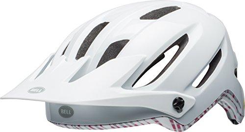 BELL Hela MIPS Fahrrad Helm, Matt/Gloss White/Cherry Fibres, Small (52-56 cm)