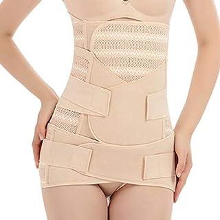 Elastic Bands - Womens Postpartum Belly/Waist/Pelvis Belt Body Shaper Waist Trainer Corset 3in1 D08F (Flesh Color XL)