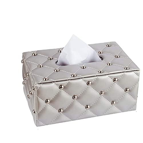 WLP-WF Soporte para Caja de Pañuelos Caja de Pañuelos para Oficina en Casa Rectángulo de Cuero Simple Soporte para Toallas de Papel Caja de Almacenamiento de Escritorio Bandeja para Pañuelos Soporte