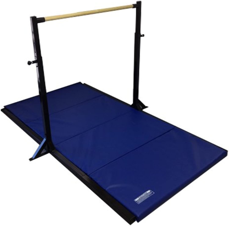 The Beam Store Gymnastics Mini High Bar with 2Inch Folding Mat, Black
