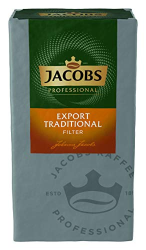 Jacobs Professional Export Traditional Filterkaffee, 500g, gemahlen, gehaltvolles und würziges Aroma