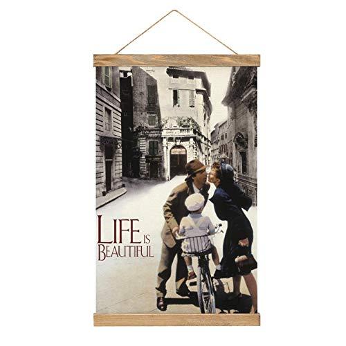 HirrWill Póster Colgante Premium, Life Is Beautiful (3), Mural de Poster con Accesorios de Marco, Listo para Colgar para la decoración del hogar -13.1 '' × 20.4 '