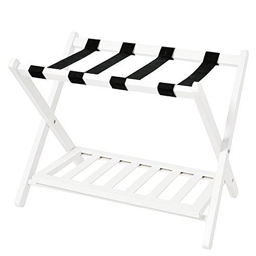 Buy Cheap WELLAND Wood Folding Luggage Rack with Shelf