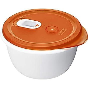 2 x 3L MICROONDE Riscaldamento cottura degli alimenti PENTOLA CONTENITORE CON VENTILATO coperchio