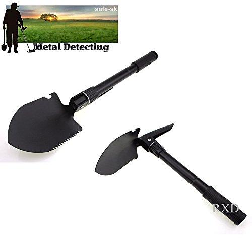 2016nuevo metal detector Buscador de oro de instrumentos de apoyo Militar pala plegable pala supervivencia pala de emergencia jardín Camping herramienta