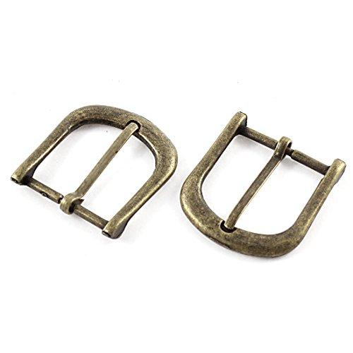 sourcingmap® 2pcs 40mmx38mm tono bronce estilo retro único diente de herradura hebilla de cinturón