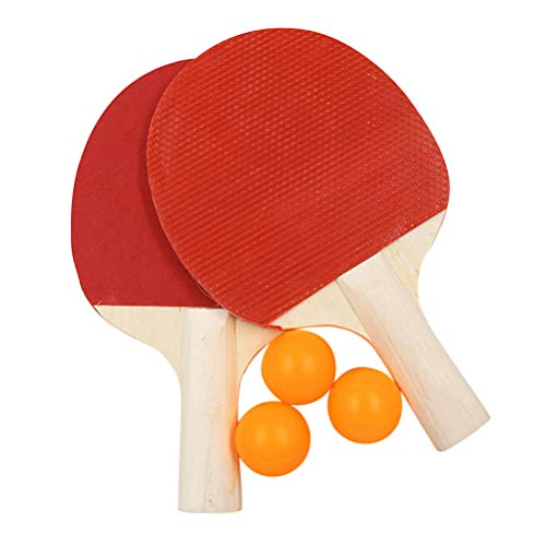 Best Deals! TOYANDONA Ping Pong Paddles Set 2 Table Tennis Rackets 3 Ping Pong Balls for Indoor Outd...