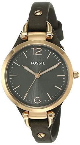 Fossil Reloj Analogico para Mujer de Cuarzo con Correa en Piel ES3077