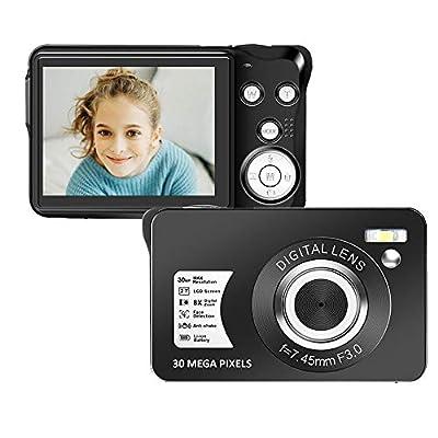 30 Mega Pixels Digital Camera 2.7 Inch HD Camera Rechargeable Mini Camera Students Camera Pocket Camera Digital with 8X Zoom Compact Camera for Photography