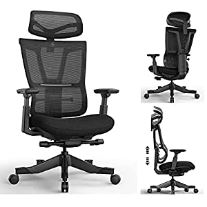 ERGONOMIC RECLINER CHAIR: Backrest with cambered design and the resilient mesh, fits your body perfectly, and provides you with a reliable ergonomic support. Relieve fatigue and muscle soreness from long periods of work or study BREATHABLE MESH CHAIR...