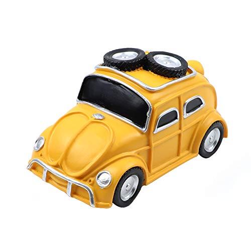 AUEAR, Vintage Car Piggy Bank Car Shatterproof Resin Coin Bank Retro Crafts Money Box Kids Banks Personalized Piggy Banks (Yellow)