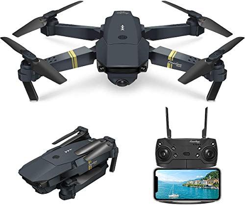 Quadcopter Drone with Camera Live Video, EACHINE E58 WiFi FPV Quadcopter with 120° Wide-Angle 720P HD Camera Foldable Drone RTF - Altitude Hold, One Key Take Off/Landing, 3D Flip, APP Control